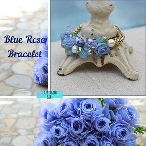 Gorgeous Porcelain Rose Bracelet